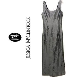 Jessica McClintock Size 4 Silver Formal Long Dress